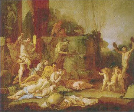 Bacchanal 1660 1665 | Giulio Carpioni | Oil Painting