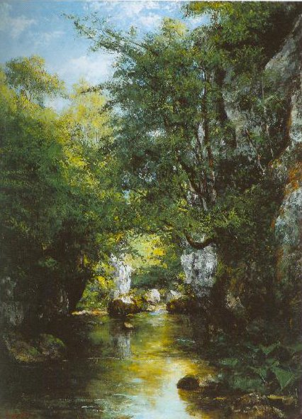 The Stream At Breme 1866   Gustave Courbet   Oil Painting