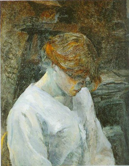 The Red Head In A White Blouse 1889 | Henri De Toulouse Lautrec | Oil Painting