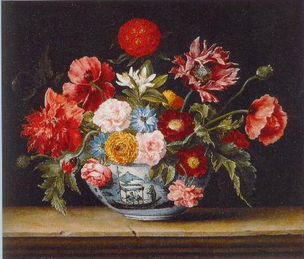 Chinese Bowl With Flowers 1640 | Jacques Linard | Oil Painting