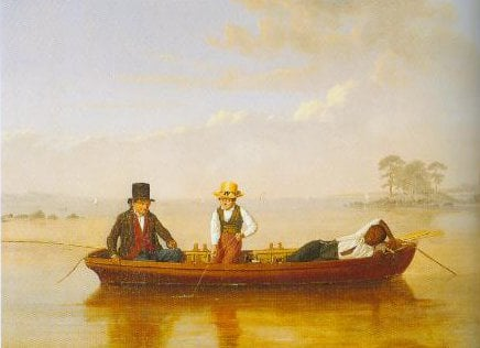 Fishing Party On Long Island Sound Off New Rochelle 1847   James Goodwyn Clonney   Oil Painting