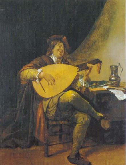 Self Portrait With A Lute 1652 1655 | Jan Havicks Steen | Oil Painting