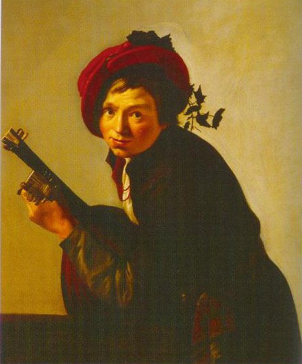 Young Man Playing The Lute 1625   Jan Hermansz Van Bijlert   Oil Painting
