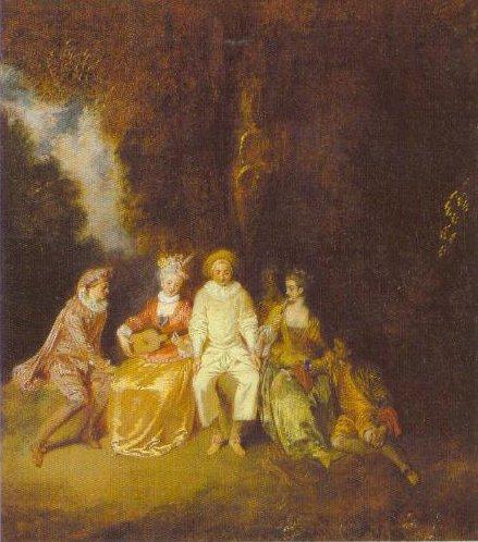 Pierrot Content 1712 | Jean Antoine Watteau | Oil Painting