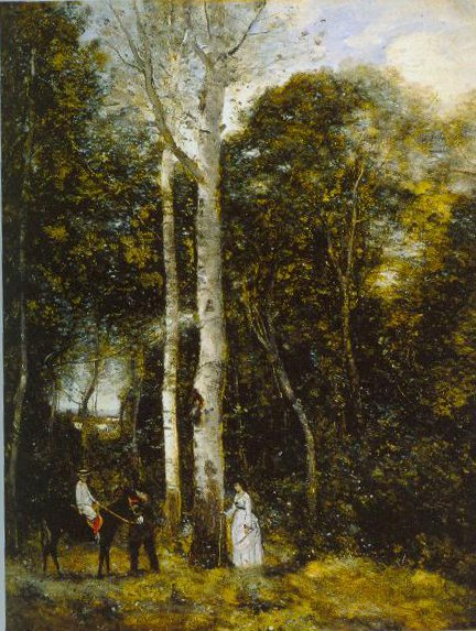 Promenade In The Parc Des Lion At Port Marly 1872 | Jean Baptiste Camille Corot | Oil Painting
