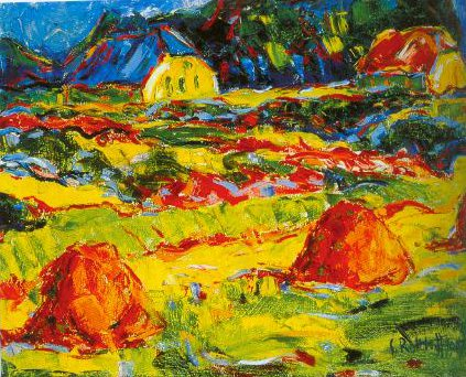 Autumn Landscape In Oldenburg 1907 | Karl Schmidt Rottuff | Oil Painting