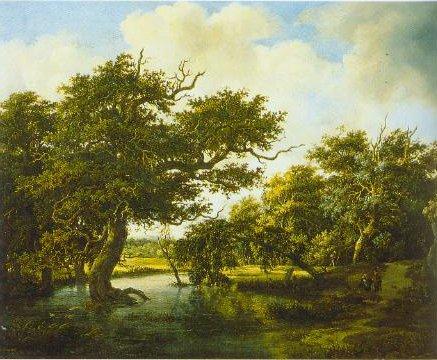 Marshy Wood 1660 | Meindert Lubbertsz Hobbema | Oil Painting