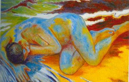Blue Nude 1903 | Mikhail Larionov | Oil Painting