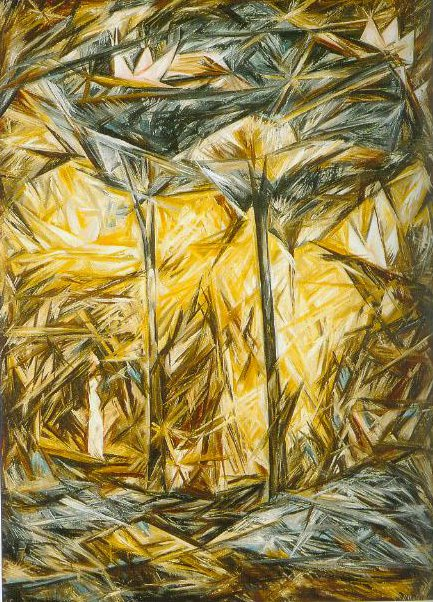 Rayonnist Landscape The Forest 1913 | Natalia Goncharova | Oil Painting