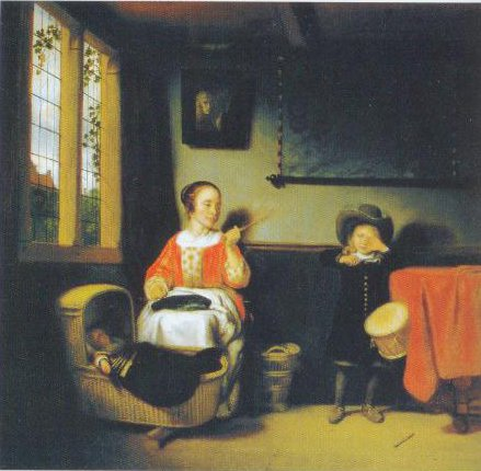 The Naughty Drummer Boy 1655   Nicolaes Maes   Oil Painting