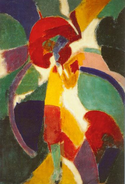 Woman With A Sunshade The Parisian 1913 | Robert Delaunay | Oil Painting
