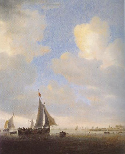 View Of Alkmaar From The Sea 1650   Salomon Jacobsz Van Ruysdael   Oil Painting