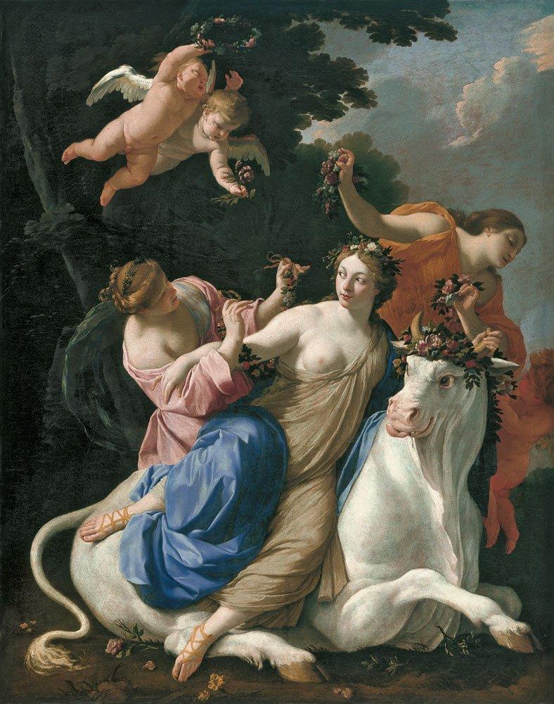 The Rape Of Europa 1640   Simon Vouet   Oil Painting