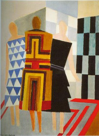 Simultaneous Dresses The Three Women 1925 | Sonia Delaunay Terk | Oil Painting