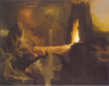 Expulsion Moon And Firelight 1828 | Thomas Cole | Oil Painting