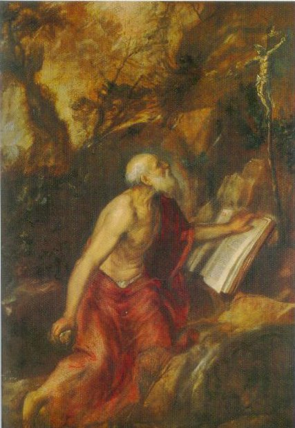 St Jerome In The Desert 1575 | Titian | Oil Painting