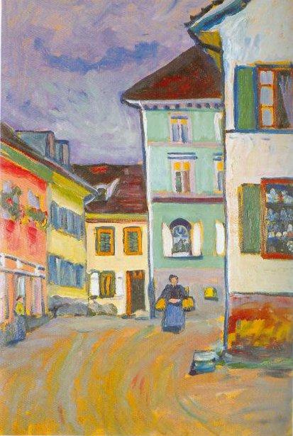 Murnau Johnnisstrasse 1908 | Wassily Kandinsky | Oil Painting