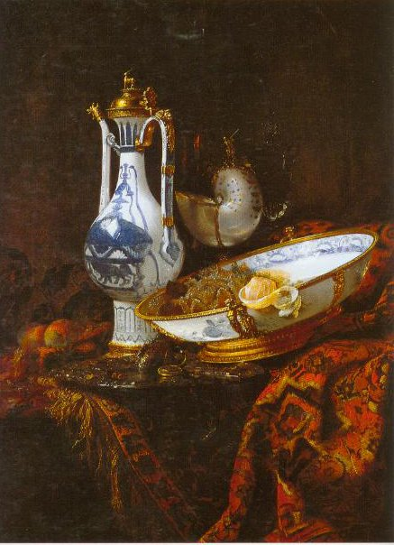 Still Life With An Aquamanile Fruit A Nautilus Cup And Other Objects 1660 | Willem Kalf | Oil Painting