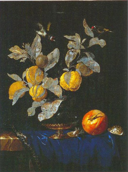 Still Life With Fruit 1664 | Willem Van Aelst | Oil Painting