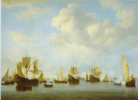 The Dutch Fleet In The Goeree Straits Guinea 1664 | Willem Van De Velde The Younger | Oil Painting