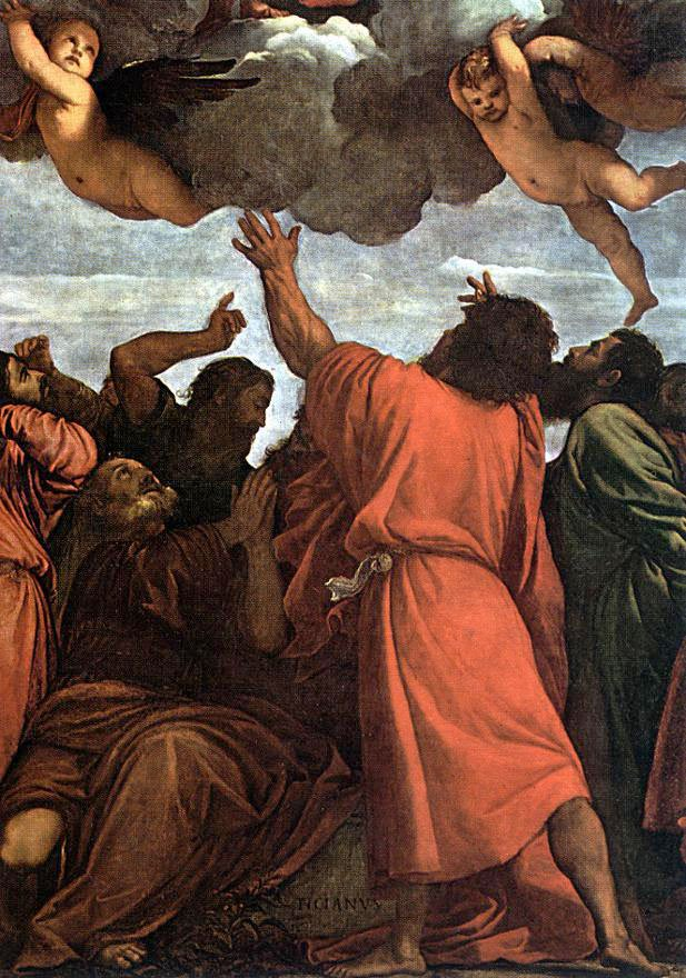 Assumption Of The Virgin Detail 3 | Titian | Oil Painting