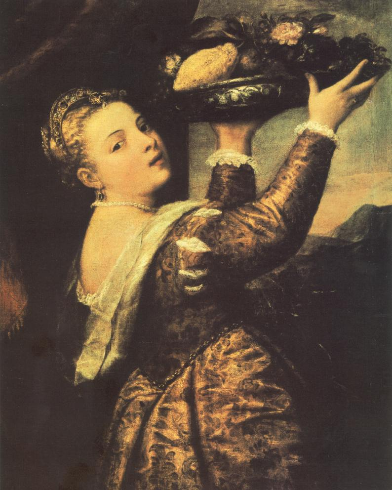 Girl With A Basket Of Fruits (Lavinia) | Titian | Oil Painting