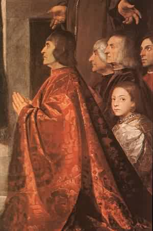 Madonna With Saints And Members Of The Pesaro Family Detail | Titian | Oil Painting