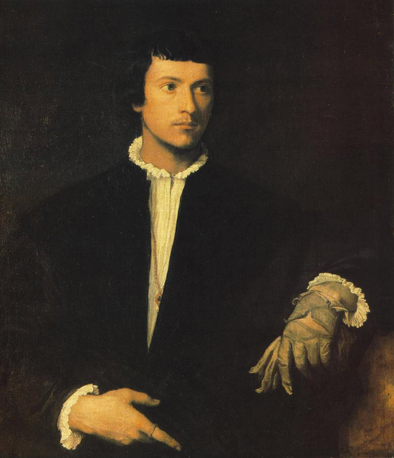 Man With Gloves | Titian | Oil Painting