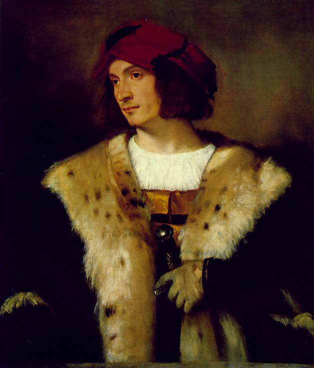Portrait Of A Man In A Red Cap | Titian | Oil Painting