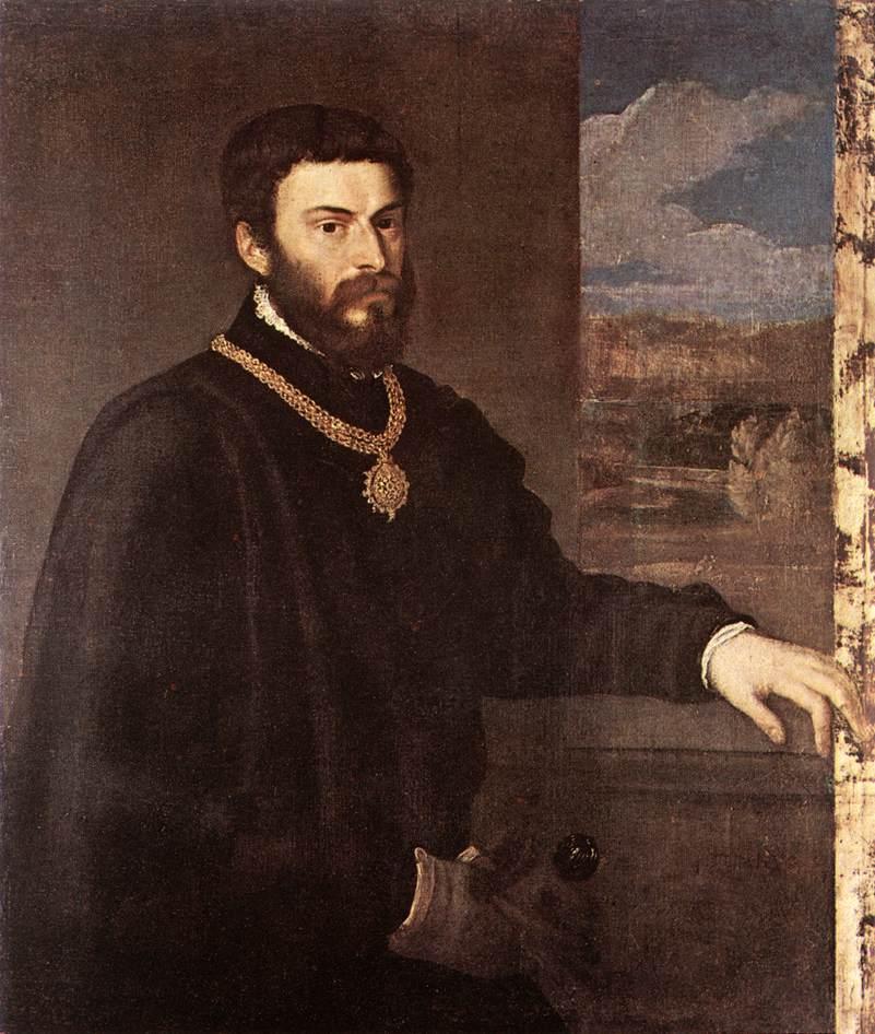 Portrait Of Count Antonio Porcia   Titian   Oil Painting