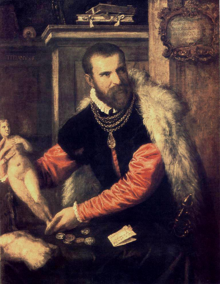 Portrait Of Jacopo Strada   Titian   Oil Painting