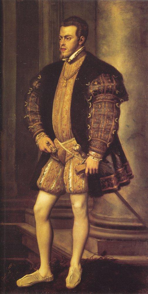 Portrait Of Philip II   Titian   Oil Painting