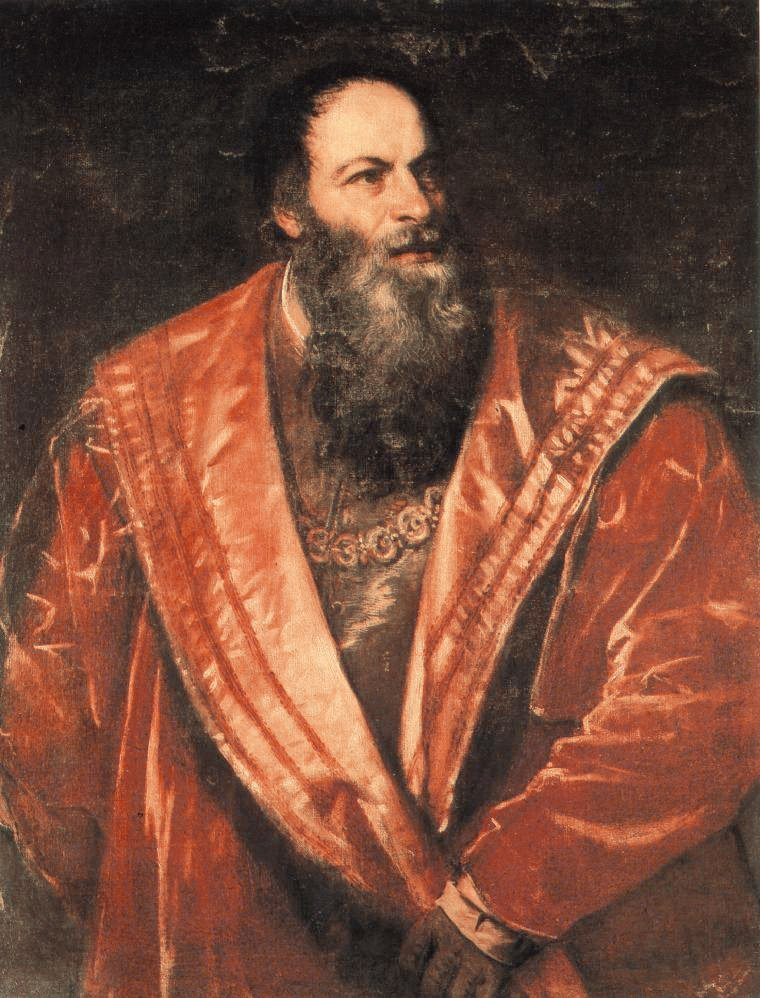 Portrait Of Pietro Aretino   Titian   Oil Painting