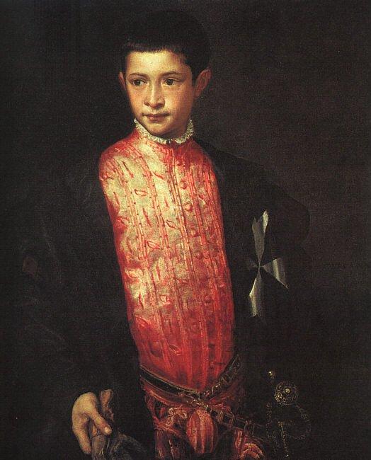 Portrait Of Ranuccio Farnese   Titian   Oil Painting