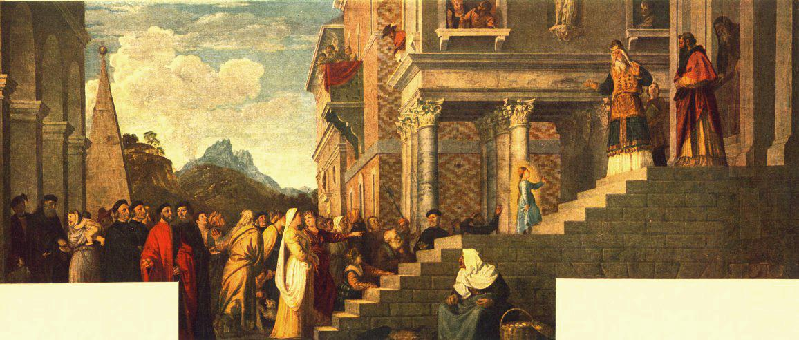 Presentation Of The Virgin At The Temple   Titian   Oil Painting