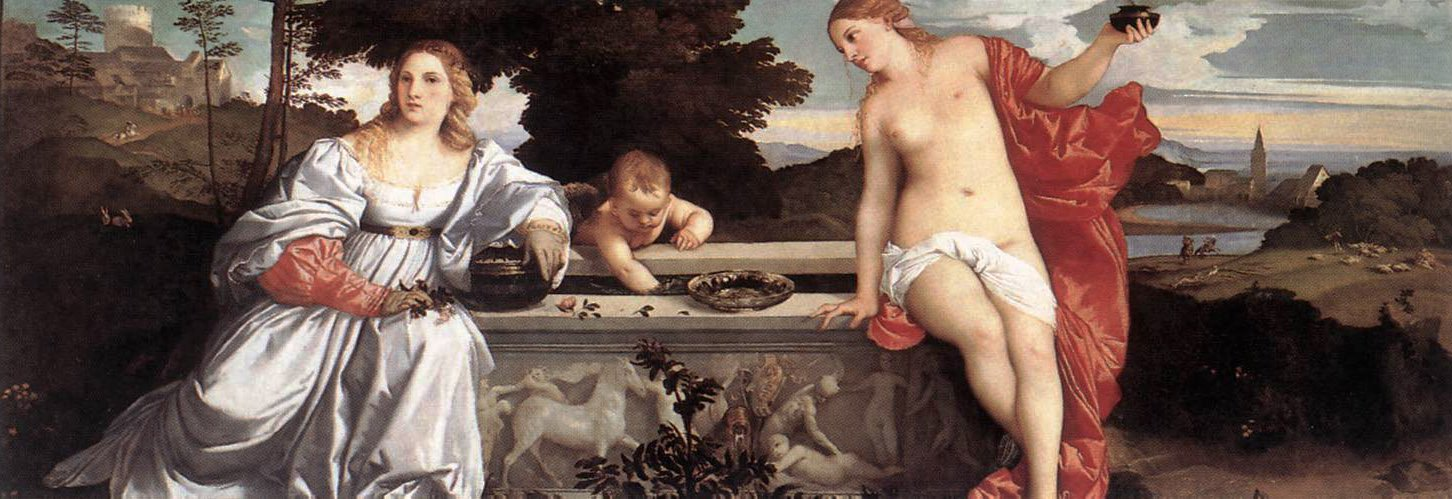 Sacred And Profane Love   Titian   Oil Painting