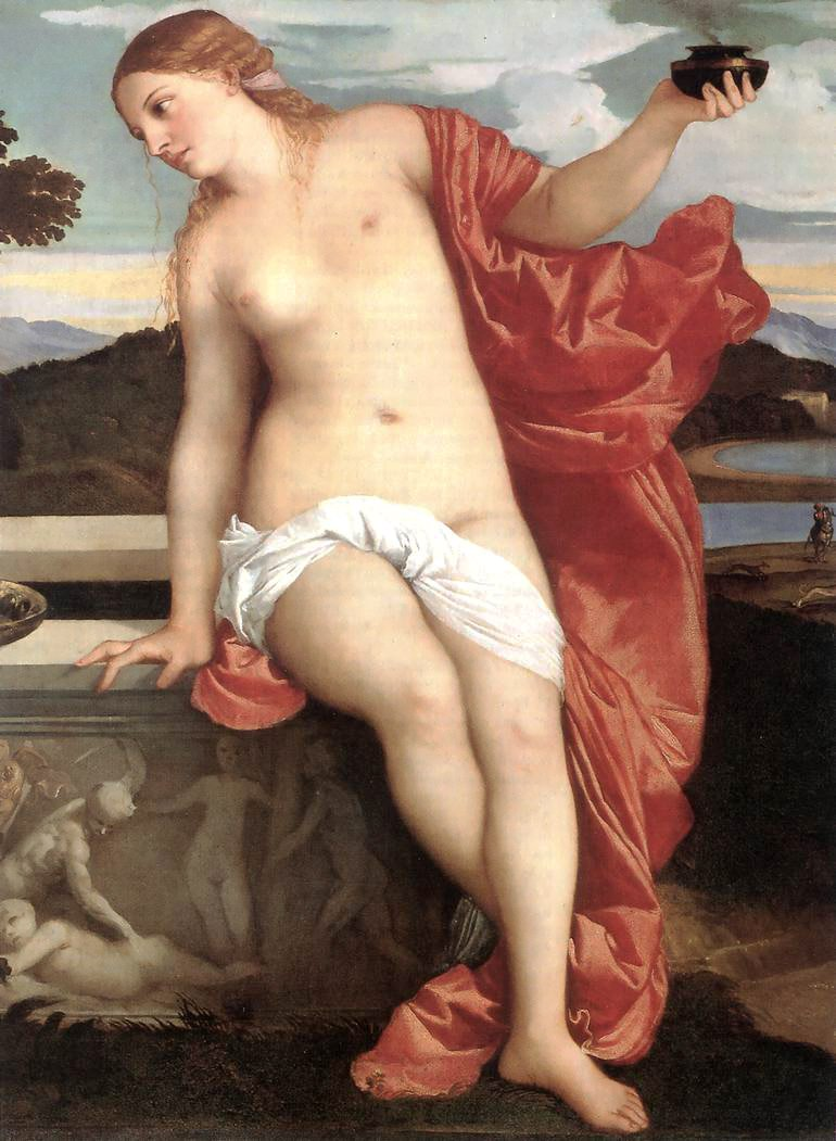 Sacred And Profane Love Detail | Titian | Oil Painting