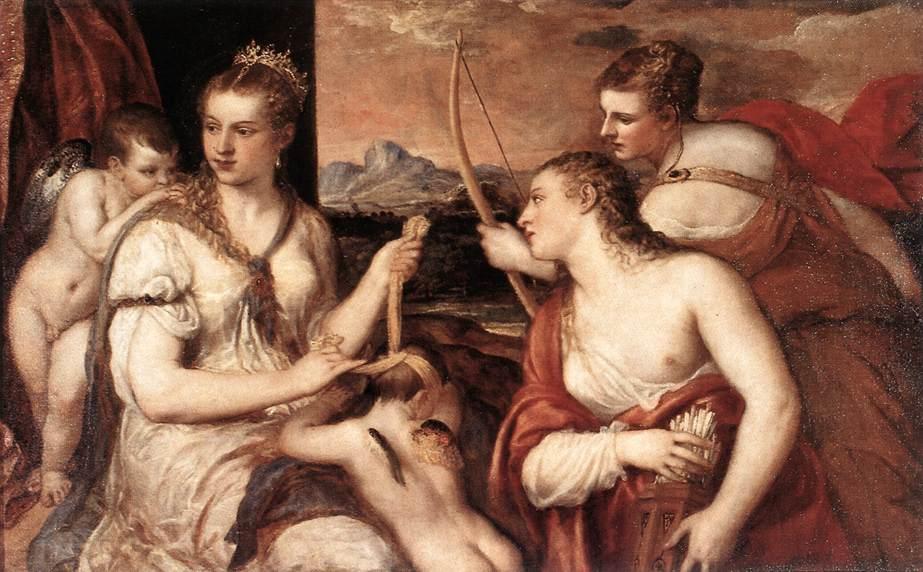 Venus Blindfolding Cupid | Titian | Oil Painting