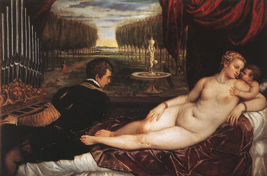 Venus With Organist And Cupid | Titian | Oil Painting