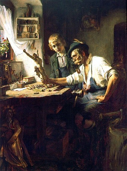 Woodcarver of Oberammergau | Toby Edward Rosenthal | Oil Painting