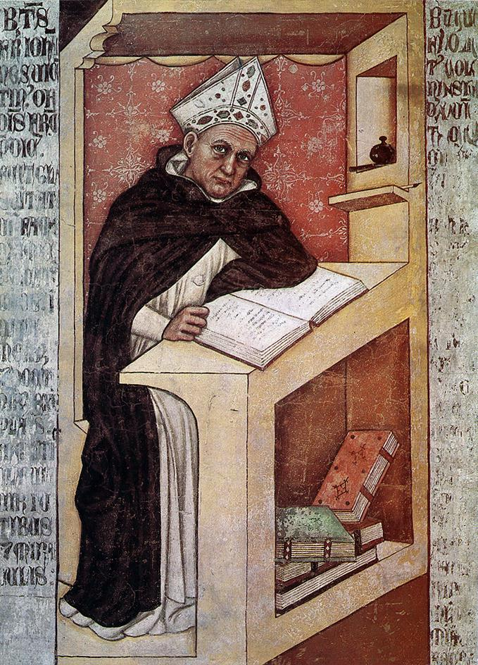 St Albert the Great 1352 | Tommaso Da Modena | Oil Painting