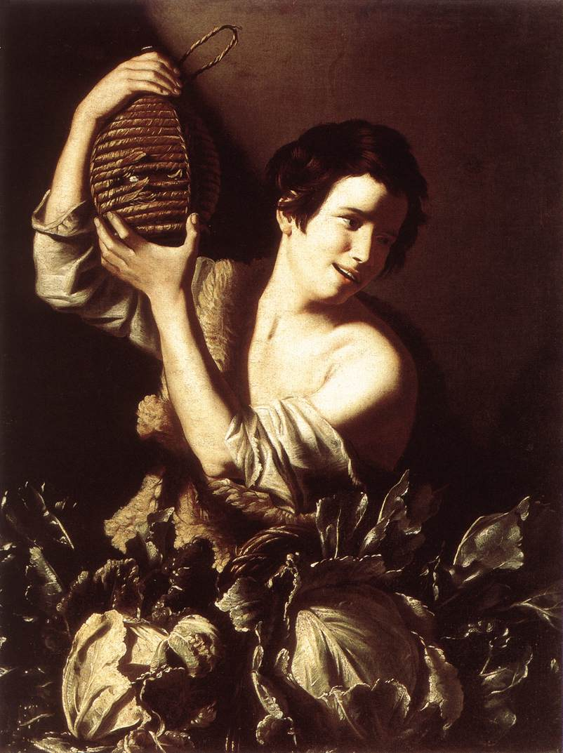 Boy with a Flask and Cabbages 1610 | Tommaso Salini | Oil Painting