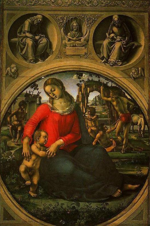 Madonna and Child with Prophets | Luca Signorelli | Oil Painting