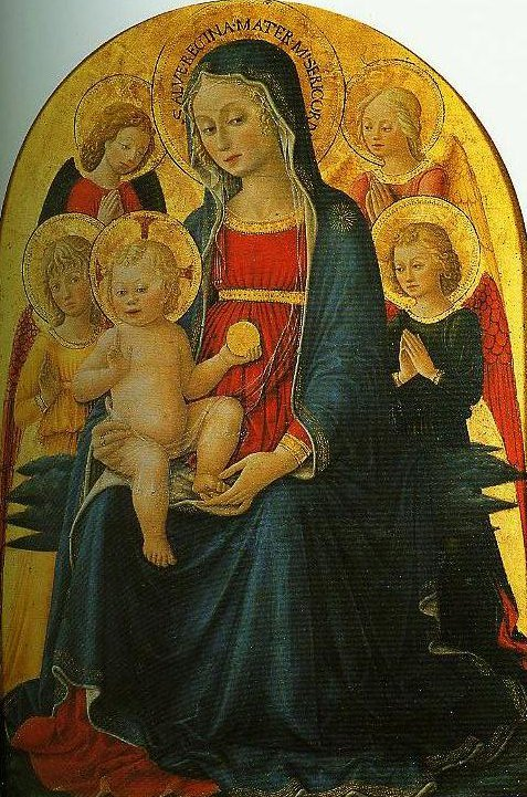 Madonna and Child with Angels | Bartolomeo Caporali | Oil Painting