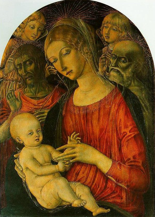 Madonna and Child with Angels and Saints | Matteo Di Giovanni | Oil Painting