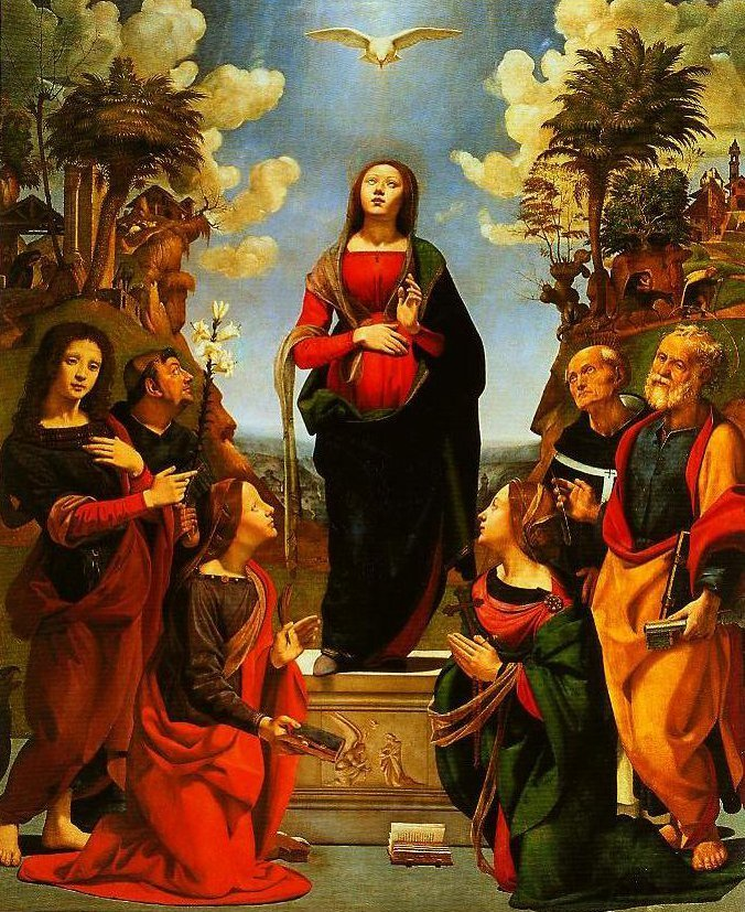 The Immaculate Conception and Six Saints | Piero Di Cosimo | Oil Painting