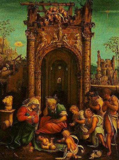 The Adoration of the Shepherds | Amico Aspertini | Oil Painting