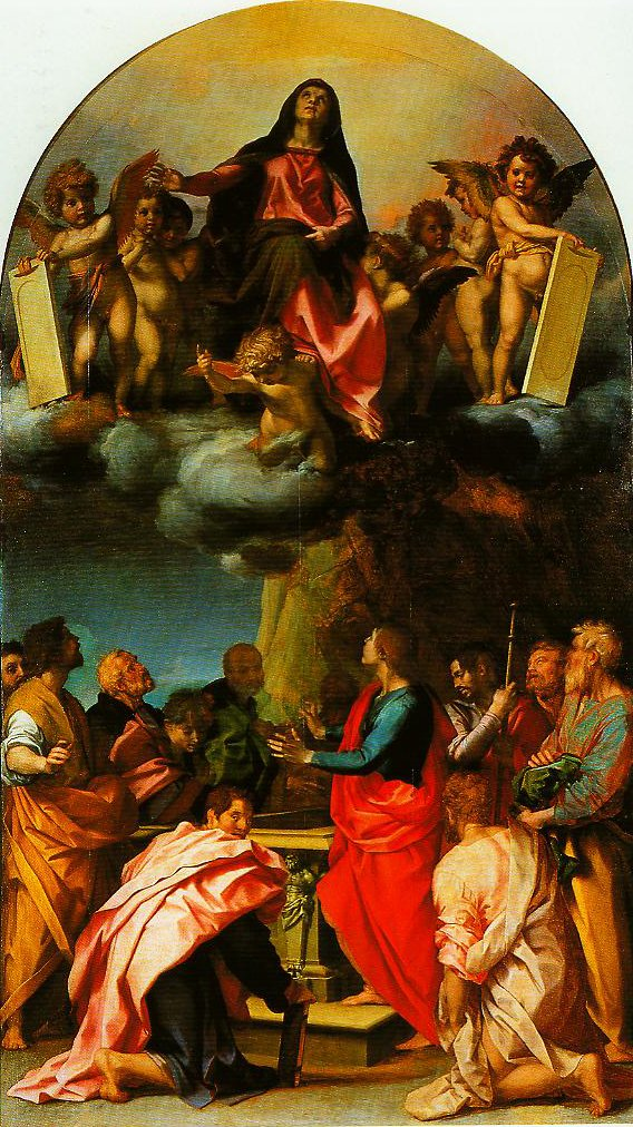 Assumption of the Virgin with Saints (Panciatichi Assumption) | Andrea Del Sarto | Oil Painting