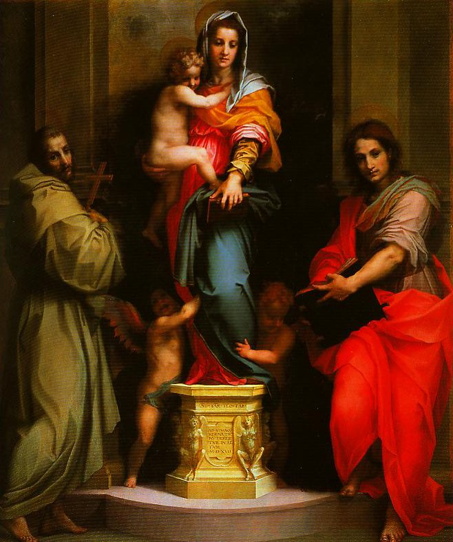 Madonna and Child with SS Francis and John the Baptist (Madonna of the Harpies) | Andrea Del Sarto | Oil Painting