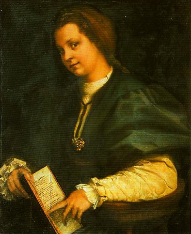Portrait of a Girl (Lady with a Book of Petrarch) | Andrea Del Sarto | Oil Painting